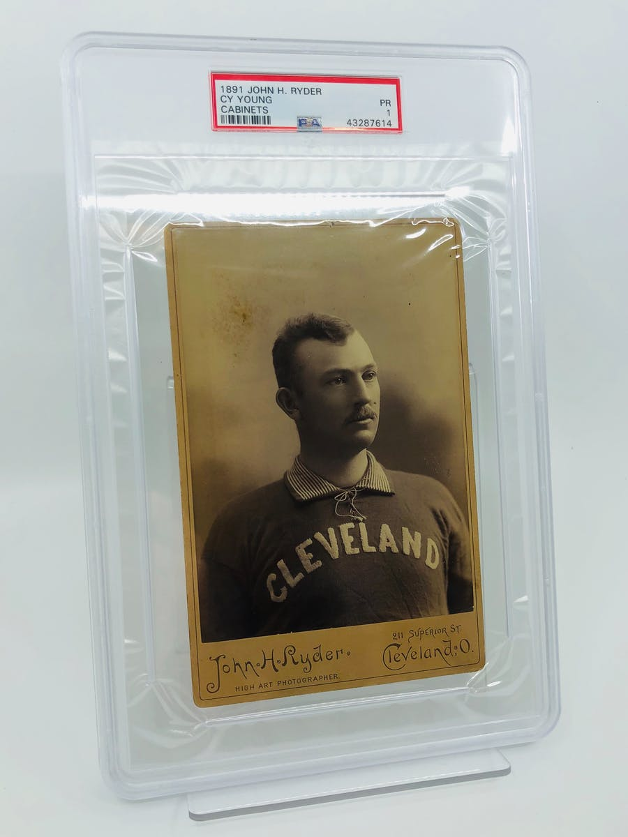 Newly Discovered 1891 John H. Ryder Cy Young Cabinet Card