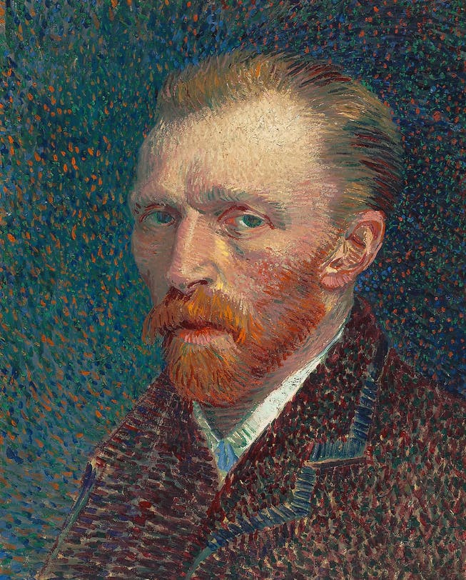 Vincent van Gogh, Self-Portrait, 1887, image © The Art Institute Chicago