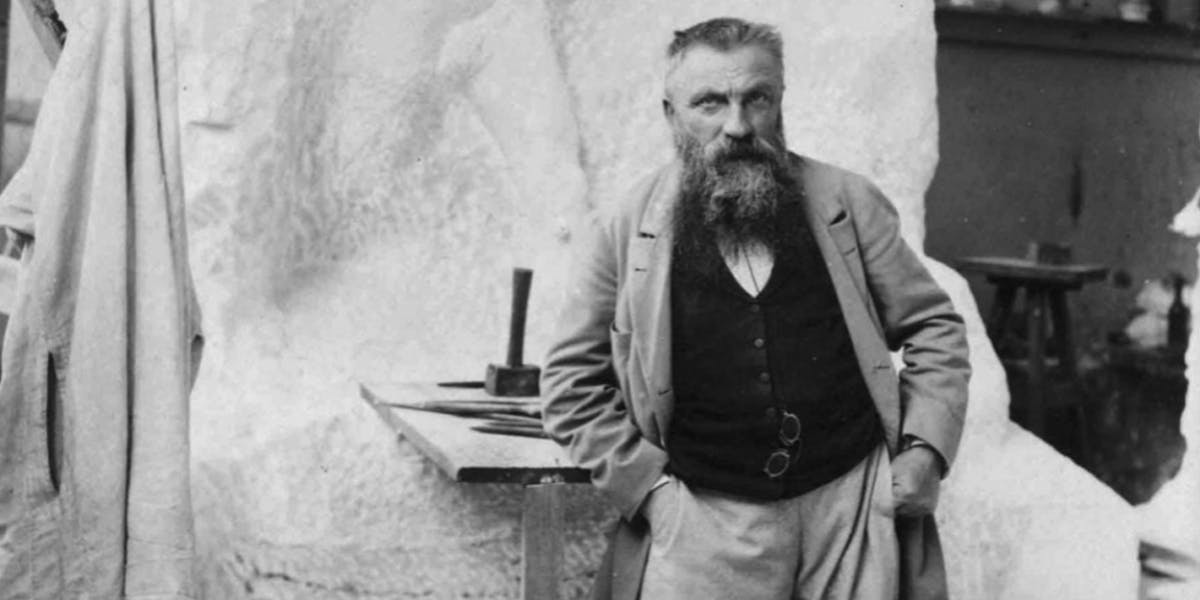 Auguste Rodin at work. Image: Cultural Services French Embassy in the United States