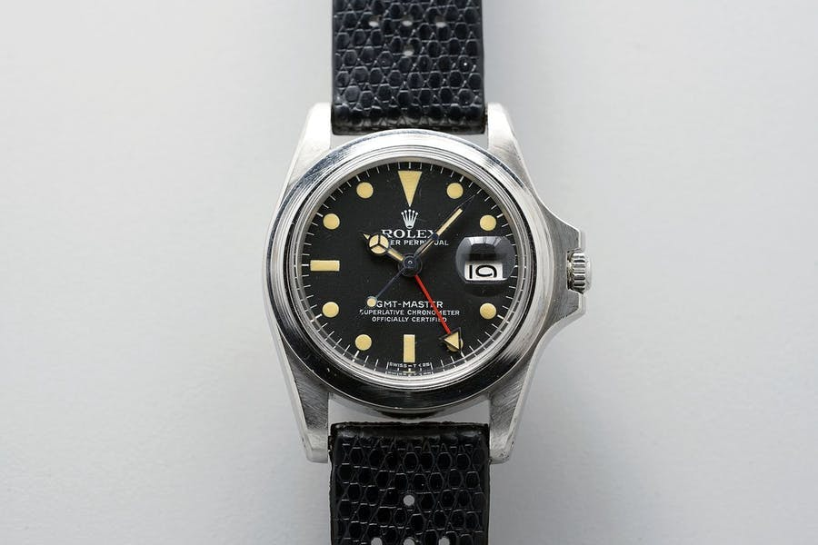 The Rolex GMT-Master ref. 1675 belonged to Marlon Brando in auction by Phillips. Photo: Phillips