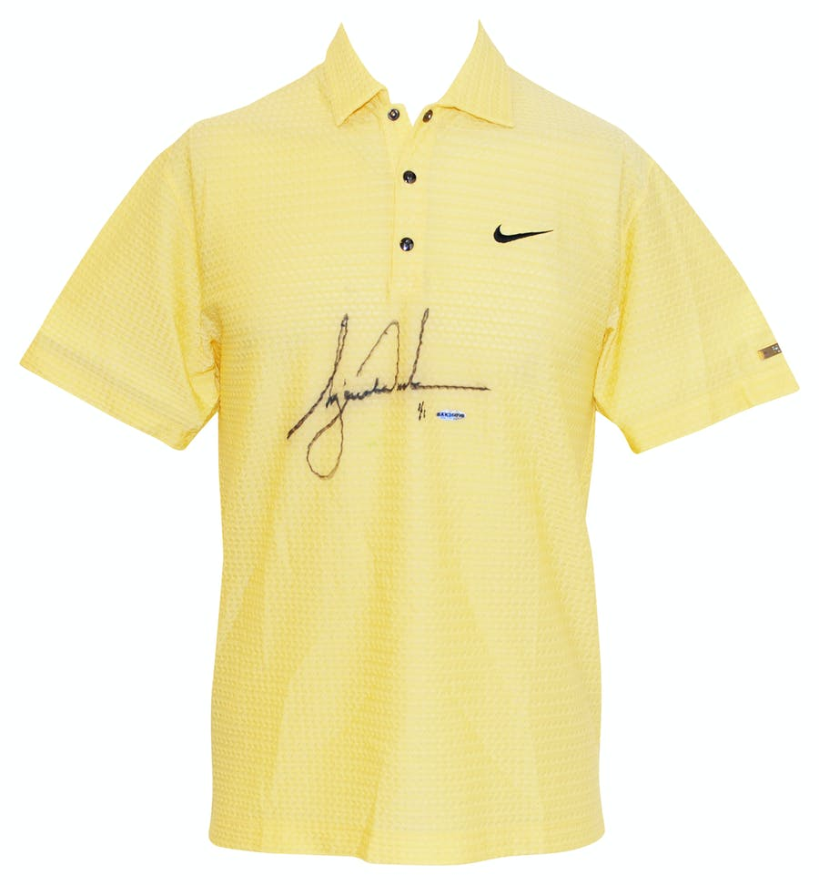 "6/15/2007 Tiger Woods ""US Open"" Tournament-Worn & Autographed Golf Polo"