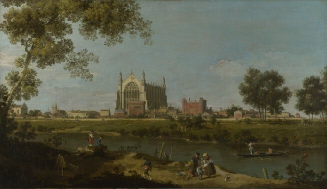 Canaletto, Eton College, c. 1754, collection of the National Gallery