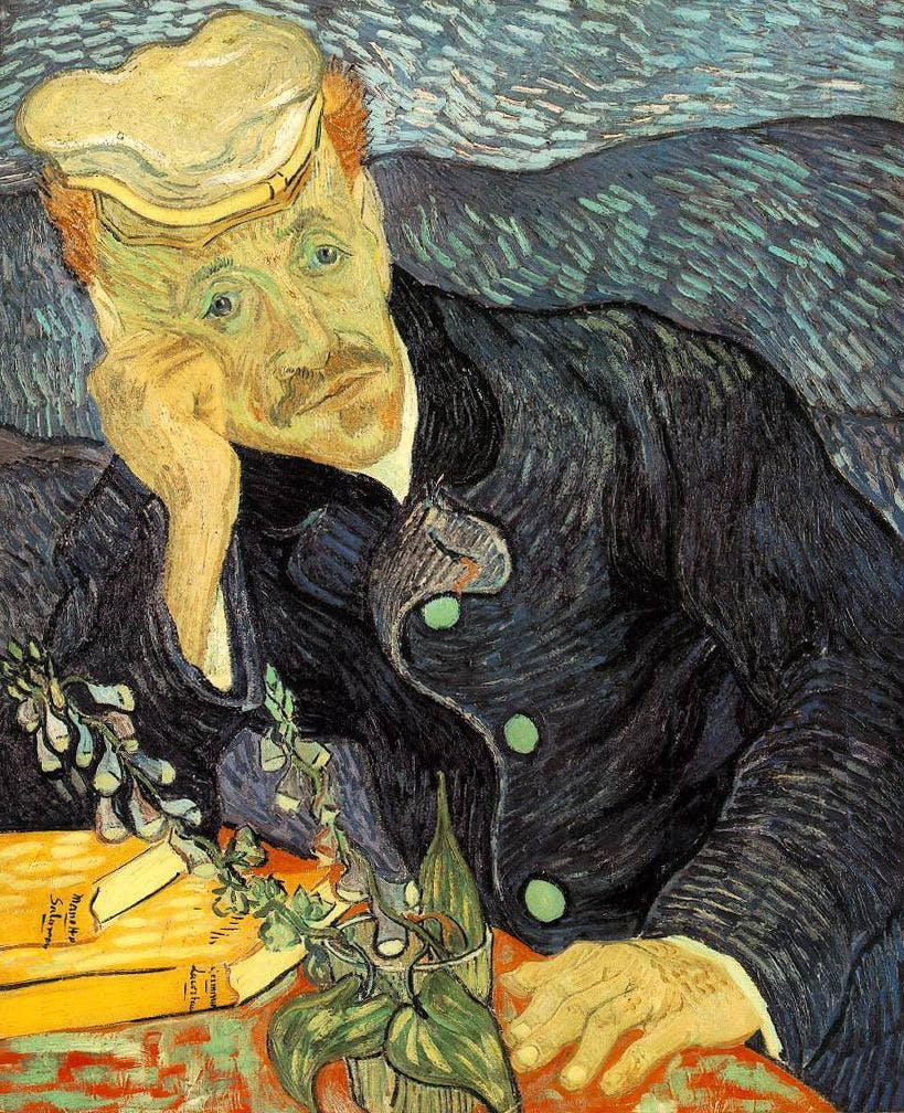 Vincent van Gogh, 'Portrait of Dr. Gachet', 1889. Photo: Wikipedia