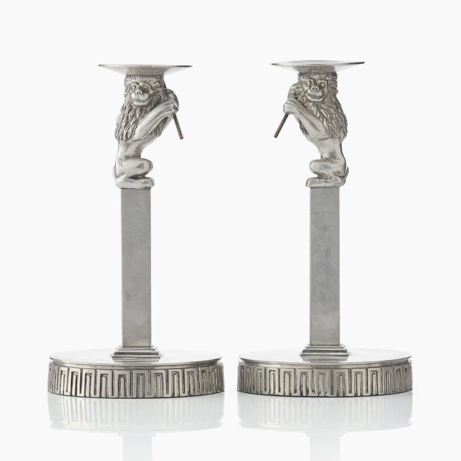 A pair of candlesticks by Anna Petrus for Svenskt Tenn, similar to those purchased in Hälsingland and then sold to Nationalmuseum for just over £42,000. Photo: Uppsala Auktionskammare