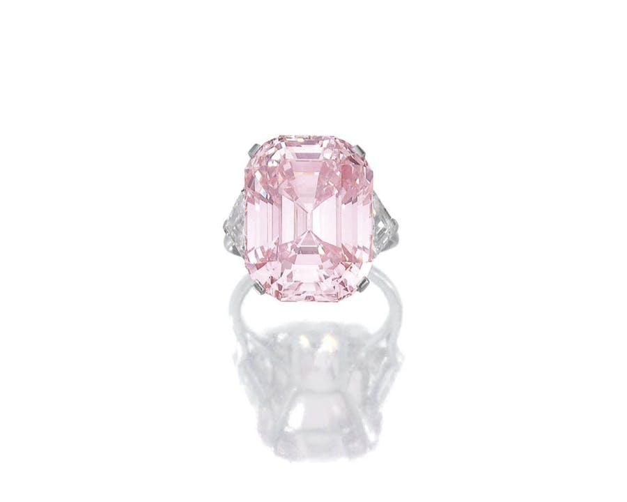 « The fancy intense pink», image ©Sotheby's