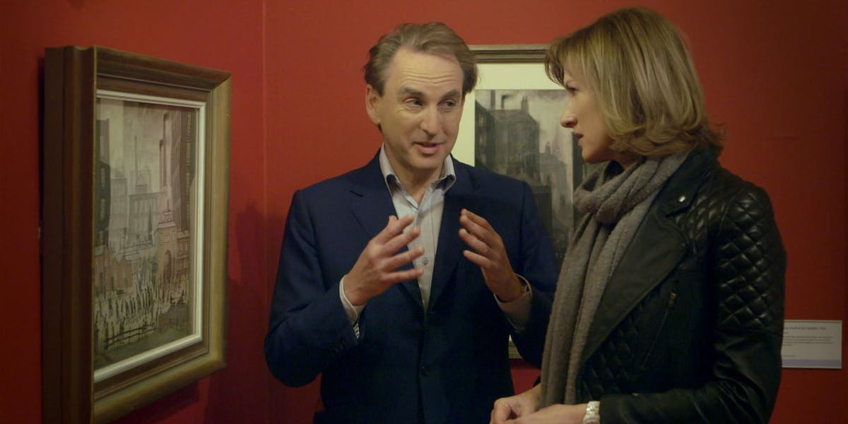 Fiona Bruce and Philip Mould in BBC's 'Fake or Fortune'. Photo: Netflix