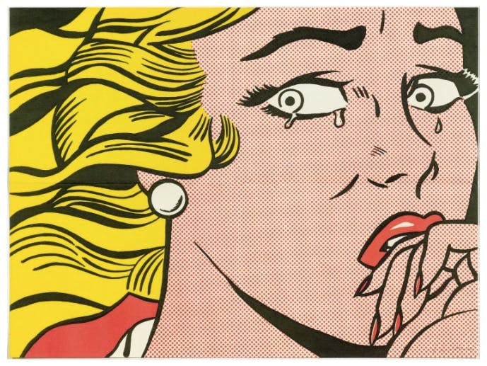 "ROY LICHTENSTEIN (1923 New York 1997) - 2 Blätter ""Crying Girl"", Farboffsets, 1963"