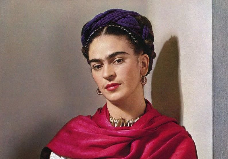"Nickolas Muray, 'Frida Kahlo With Magenta Rebozo', ""Classic"" (2nd Edition), (detail), 1939, image © Nickolas Murray Photo Archive / Matthew Liu Fine Arts"