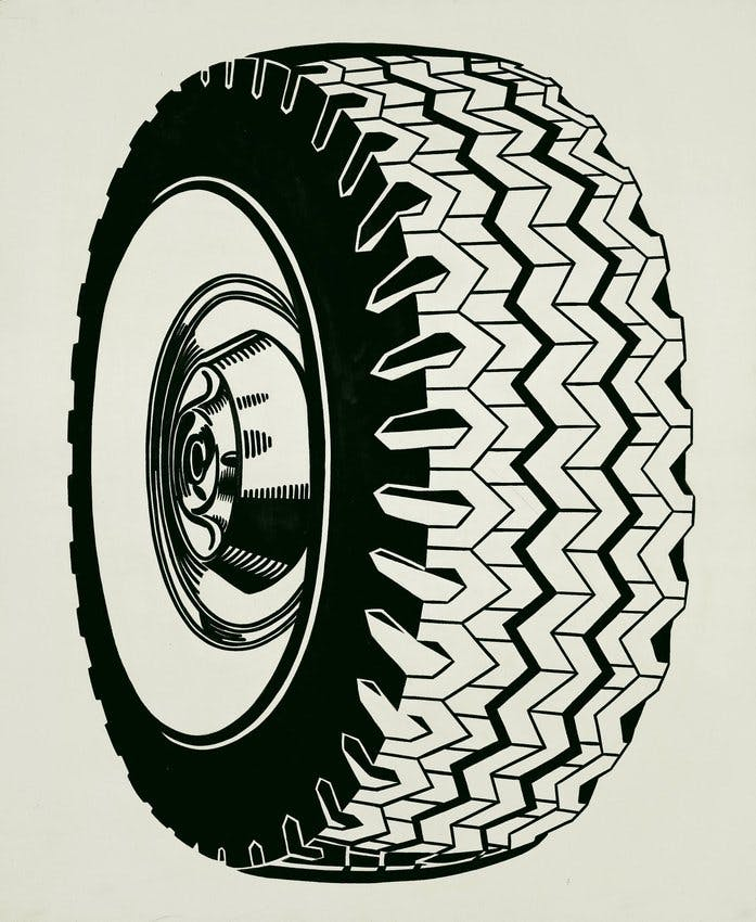 Roy Lichtenstein, Tire, 1962, collection du San Francisco Museum of Modern Art (SFMoMA)