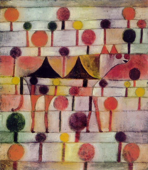 Camel (in rhythmic landscape with trees), Paul Klee, 1920, image via Wikipedia