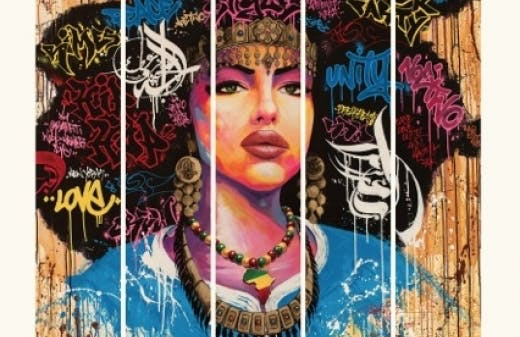 """Affiche designed in Marseille by aKa © """"Aisha"""" par Noe Two"""