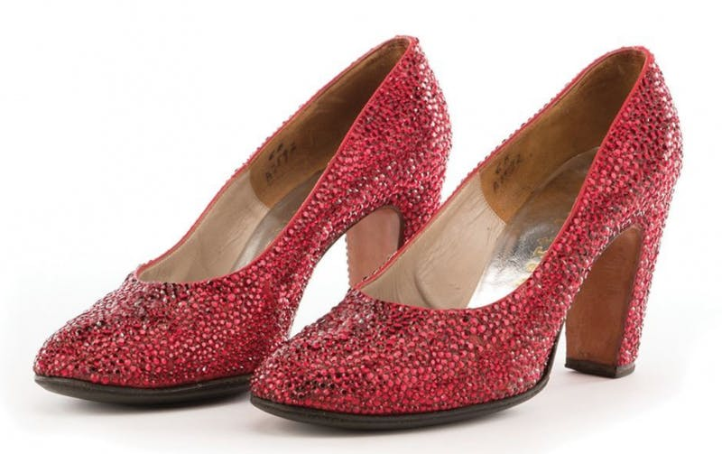 """Minnelli's """"Ruby Slippers."""" Photo: Profiles in History."""