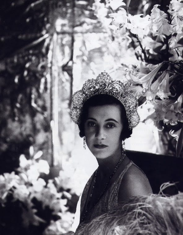 Loelia, Duchess of Westminster, wearing the Westminster Halo Tiara, Cecil Beaton, 1931. Image: Royal Jewels of the World