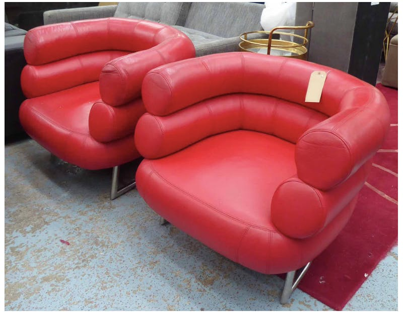 After Eileen Grey, Bibendum Style Chairs. Photo: Lots Road