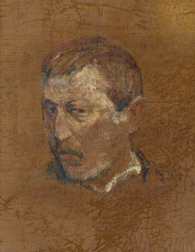Self portrait on reverse, Paul Gauguin. Image: Sotheby's