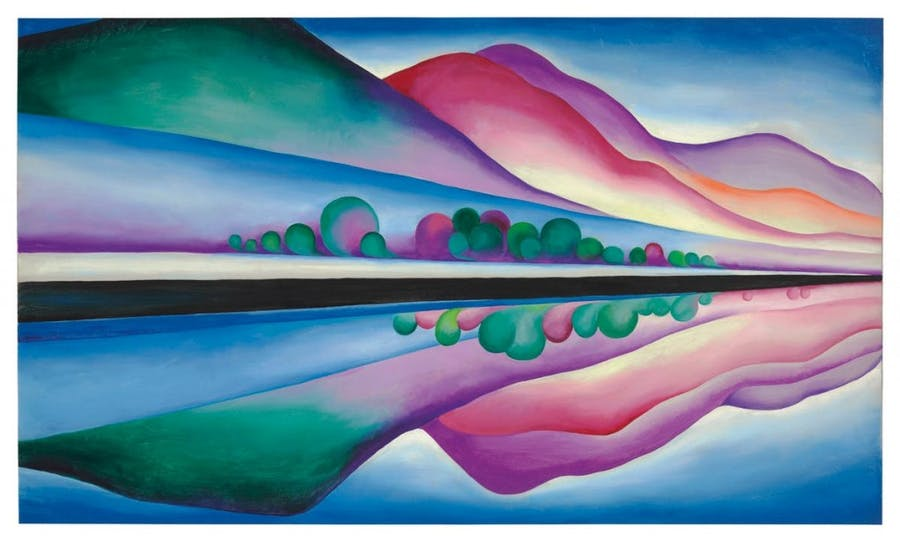 Georgia O'Keeffe, Lake-George-Reflection, 1921-1922 | Foto via Barnebys