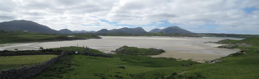 Camas Uig, a bay on the Isle of Skye where the Lewis chessmen were discovered in 1831. Image: James Gollin via Wikipedia