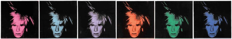 Andy Warhol (1928-1987) Six Self Portraits Executed in 1986 © Christie's