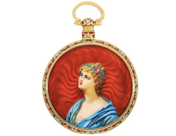 Ilbery Emaille-Taschenuhr, London ca. 1840/50   Foto: Cortrie