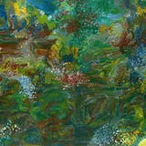EMILY KAME KNGWARREYE (ca. 1910-1996) - Earth's Creation I, Synthetic Polymer Paint on Belgian Linen, 1994