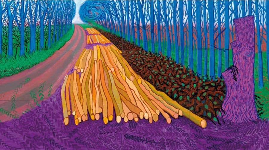 'Winter Timber' David Hockney  Courtesy of The Daily Mail UK
