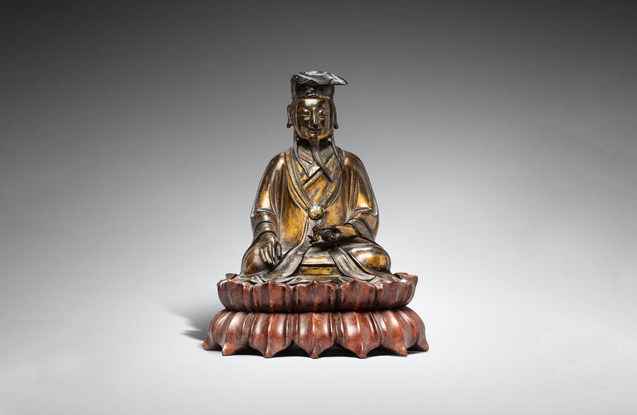 Gilded bronze statue of a Taoist deity, China, Ming Dynasty, image © Rossini