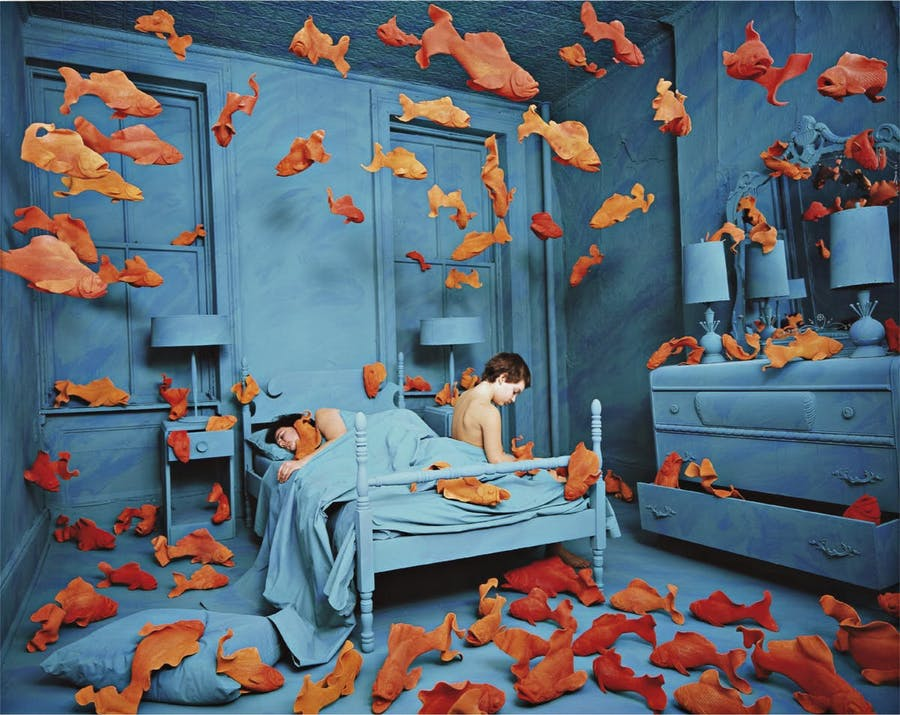 Sandy Skoglund, Revenge of the Goldfish, 1980, image © Phillips