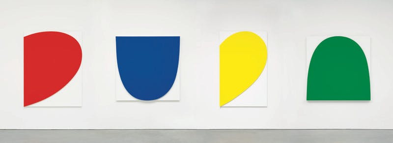 Ellsworth Kelly, Curves on White (Four Panels), 2012 Courtesy: Galerie Marian Goodman, Paris.