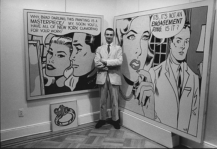 Roy Lichtenstein à la Leo Castelli Gallery à New-York, 1962