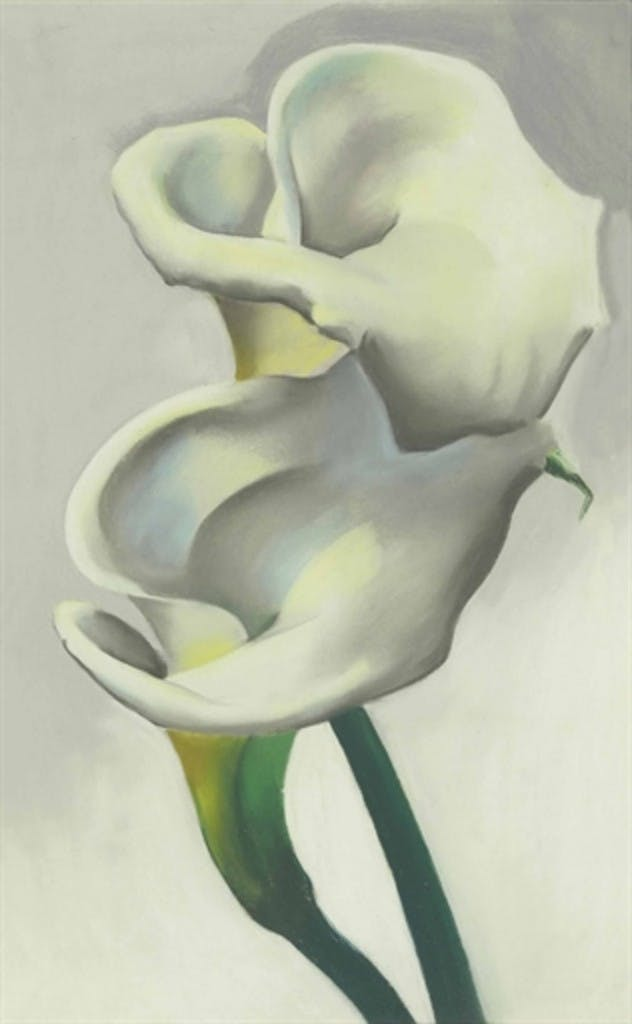 """""""Two Calla Lilies Together"""", 1923. Foto via Christie's."""