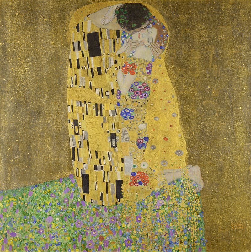 Gustav Klimt (1862-1918), The Kiss, 1908 | Photo via Wikimedia