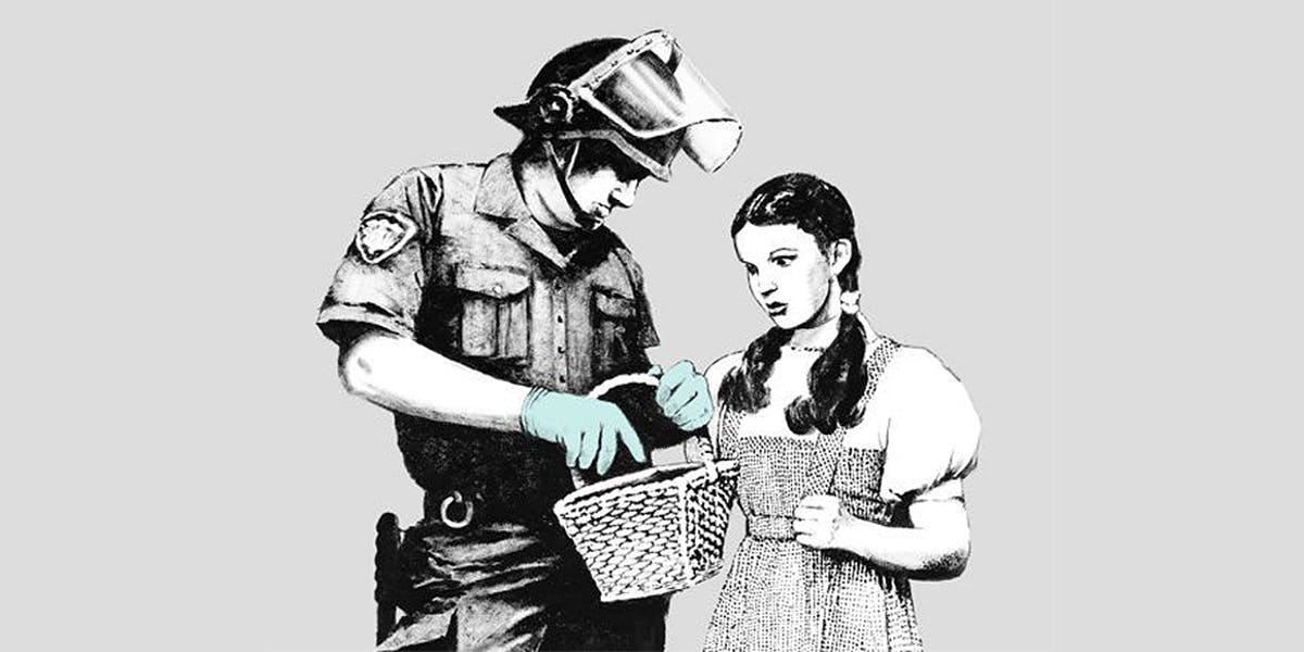 Banksy, Stop and search (Detail)   Foto: Courtesy of the Artist via CNN