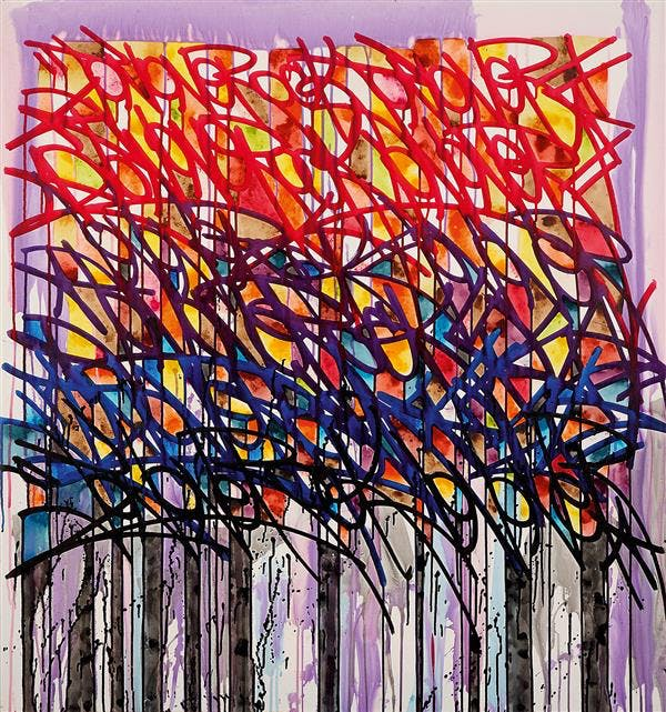 JONONE (Né en 1963)  Brother to the brother, 2008