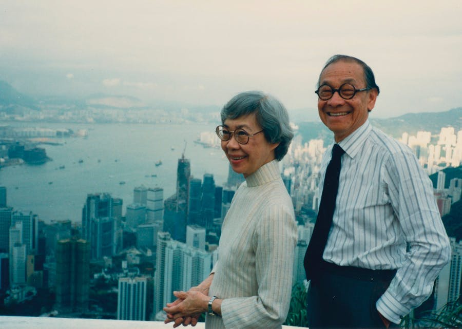 Eileen and IM Pei, Hong Kong, 1988, picture © Courtesy Eileen and IM Pei Family Archive