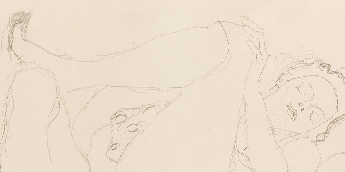 An Erotic Gustav Klimt Drawing for Sale