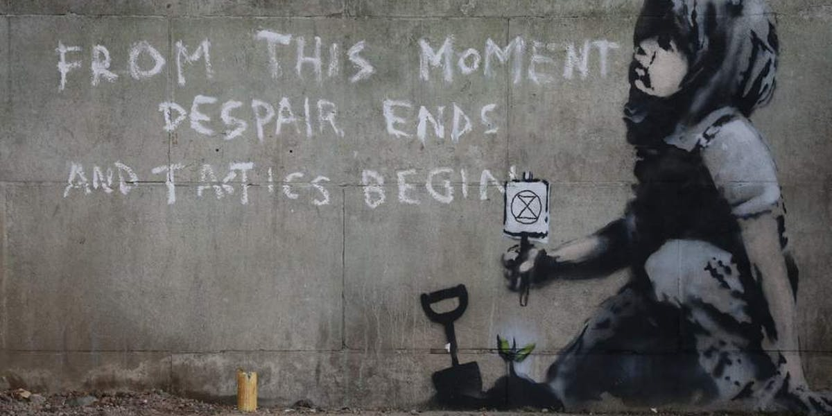 Banksy Goes to Marble Arch