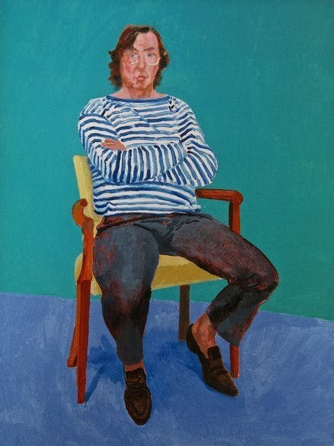 Le portrait de Gregory Evans par David Hockney Image: Royal Academy