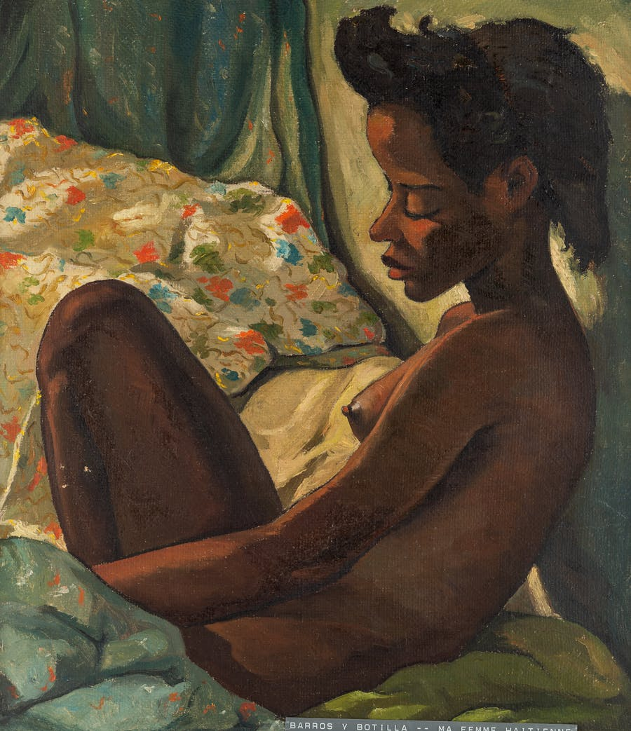 Ma Femme Haitienne, Angel Botello. 1950, oil on burlap.