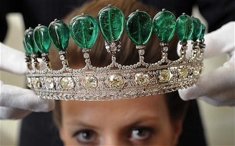 The tiara of Empress Eugenie, the wife of Napoleon III, that sold for $12.7 million at Sotheby's in 2011. Image: The Telegraph