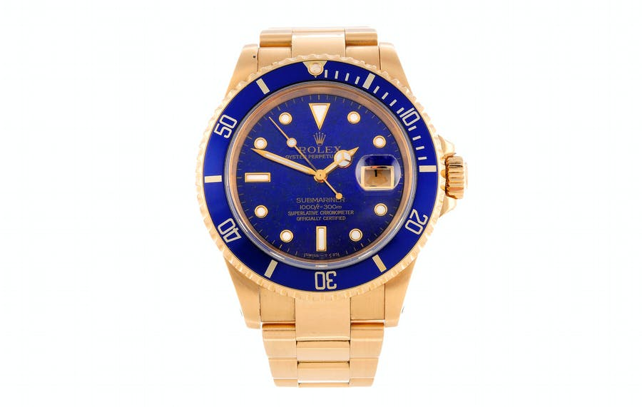 Rolex Oyster Perpetual Date Submariner, « Lapis Lazuli », vers 1991, image ©Fellows