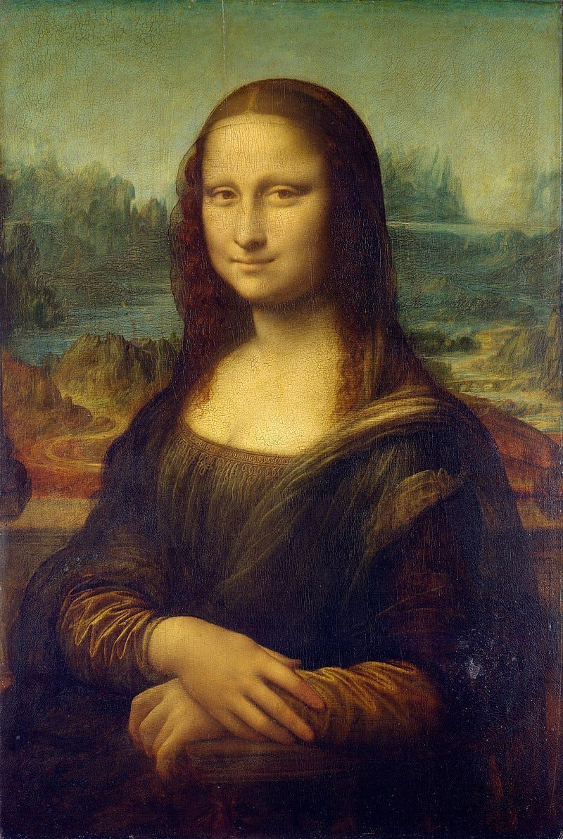 Leonardo da Vinci (1452-1519), Mona Lisa, 1503-06 | Photo via Wikimedia