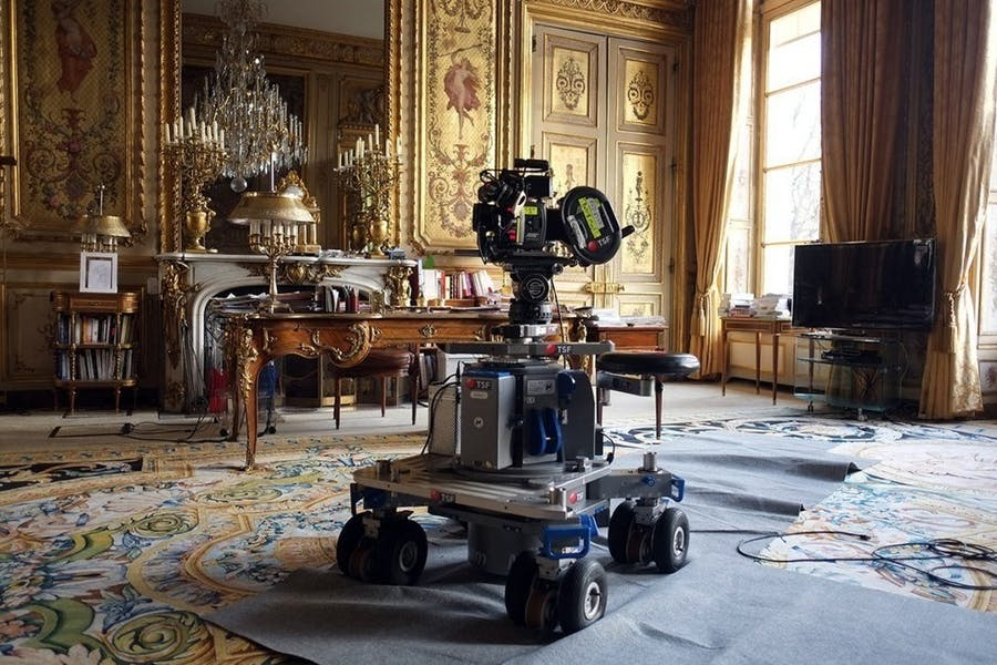Laurent Grasso, Behind the scenes of Élysée (Film), 2016 Courtesy of Edouard Malingue Gallery