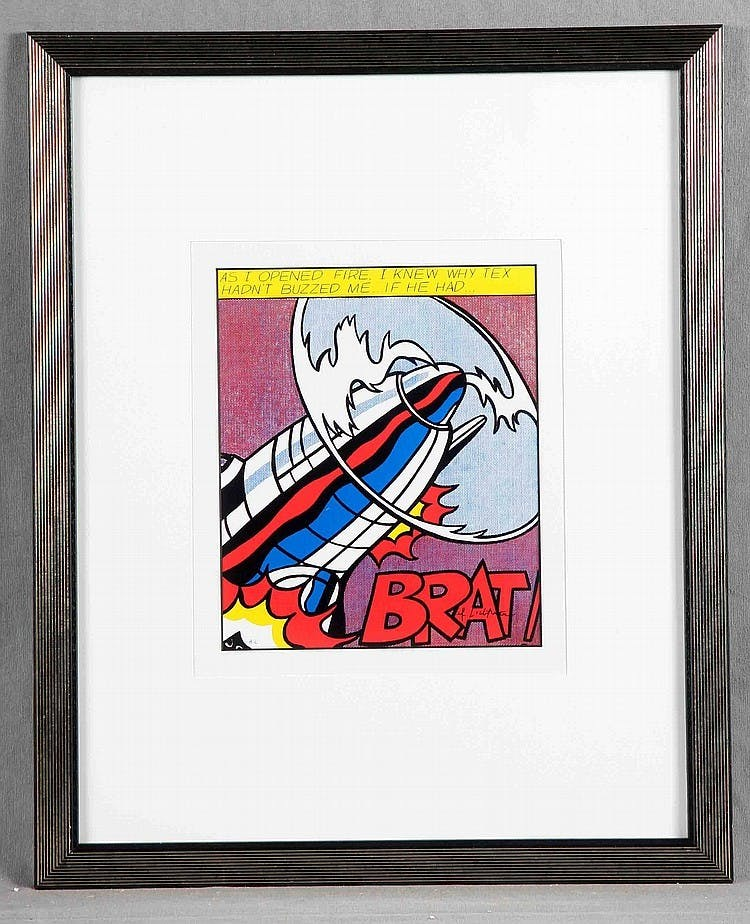 "ROY LICHTENSTEIN - ""As I opened fire 1/3"", Farblithografie"