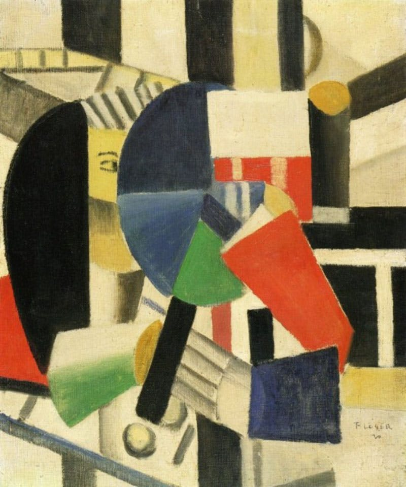 Woman with Mirror, Fernand Léger (1920) Foto: Allpaintings