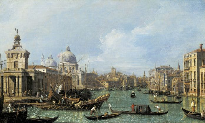 Canaletto, 'The Mouth of the Grand Canal looking West towards the Carità', c. 1729–30