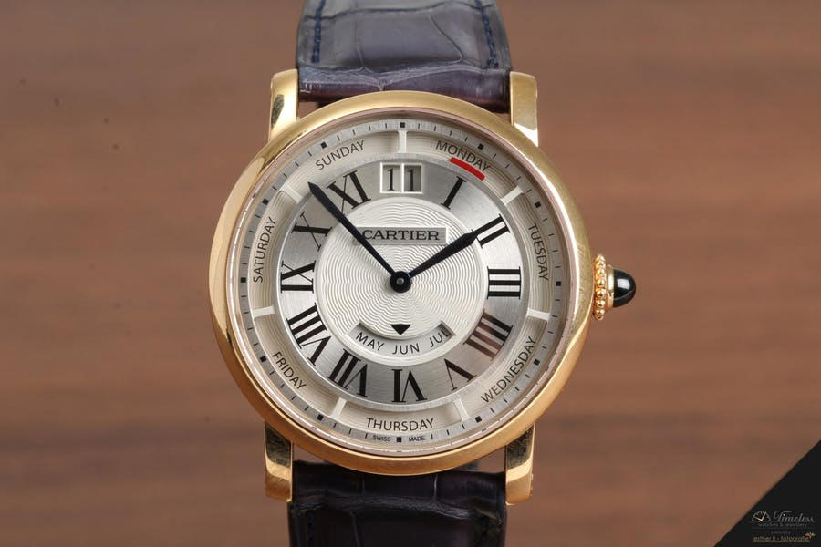 Cartier Rotonde Annual Calendar 18K Rosegold | Foto: Timeless Watches & Jewellery