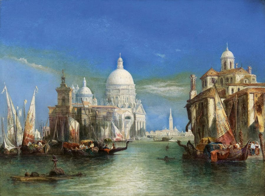 William Leighton Leitch (1804 Glasgow - 1883 London), Venedig mit Santa Maria della Salute, Öl/Lwd., signiert und datiert, 1860 | Foto: Stahl