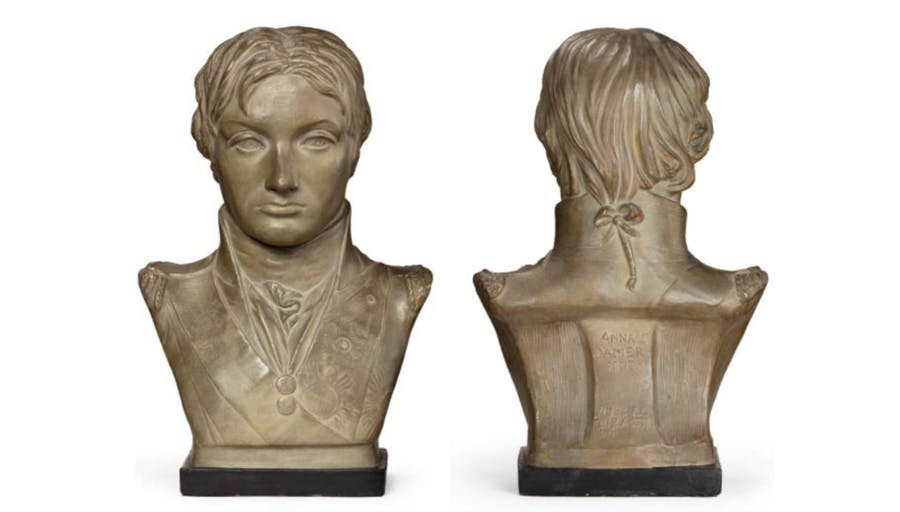 Plaster portrait bust of Lord Nelson after Anne Seymour Damer. Photo: Wick Antiques