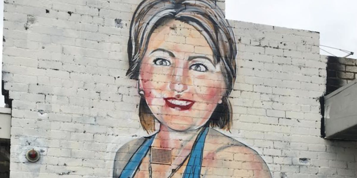 Street artist's Instagram account deleted after posting near-nude mural of Hilary Clinton