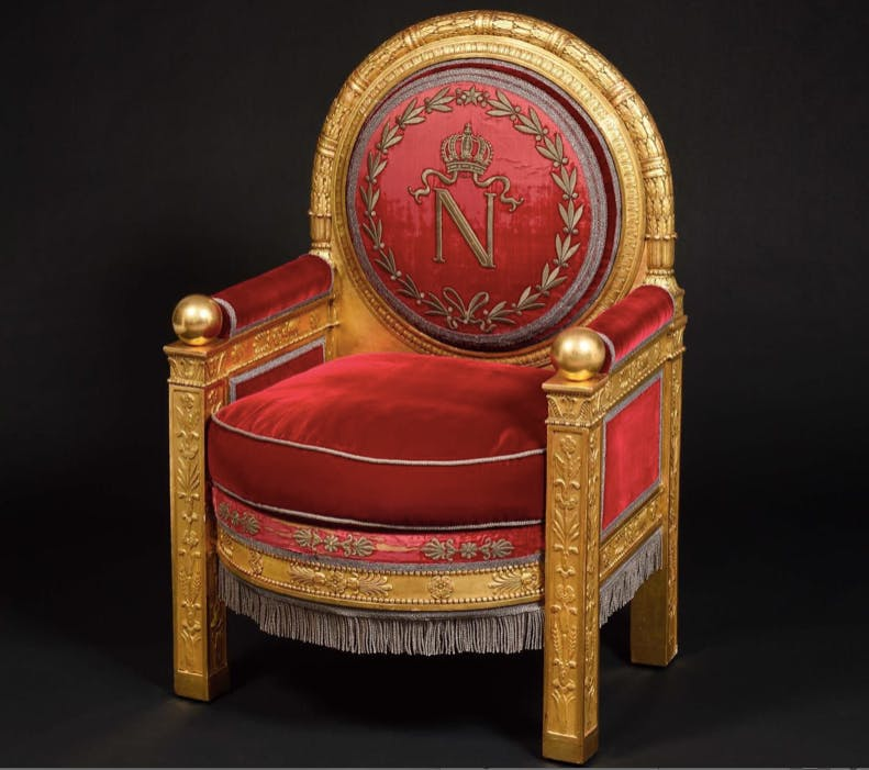 Napoleon's throne. Image via Le Parisien